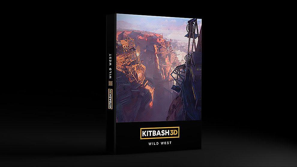 مجموعه مدل سه بعدی غرب وحشی Kitbash3D Wild West