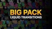 پروژه افترافکت مجموعه ترانزیشن سیال Liquid Transitions Big Pack