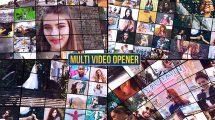 پروژه افترافکت افتتاحیه با موزاییک ویدیو Multi Video Opener