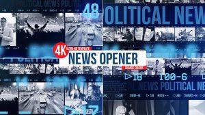 پروژه افترافکت افتتاحیه اخبار News Opener