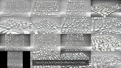 مجموعه مدل سه بعدی اجزای صنعتی Sci Fi Industrial