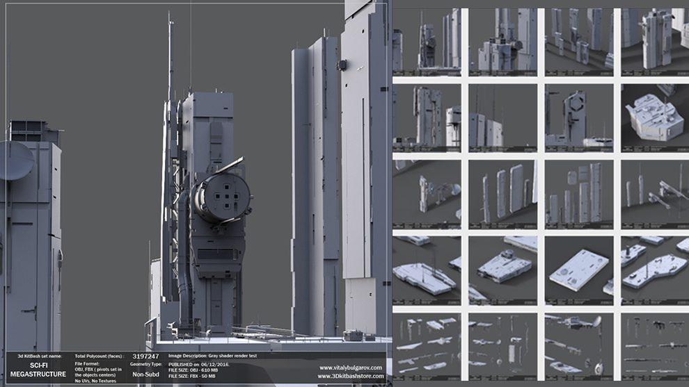مجموعه مدل سه بعدی سازه های علمی تخیلی Sci-Fi MegaStructure