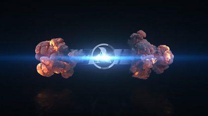 پروژه افترافکت نمایش لوگو انفجار سریع Short Explosion Logo