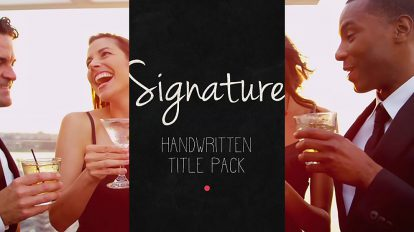 پروژه افترافکت مجموعه عناوین دست نویس Signature Handwritten Title Pack