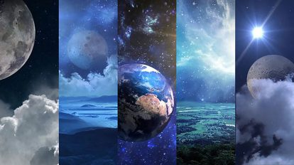 مجموعه موشن گرافیک زمینه متحرک پانوراما فضا و سیارات