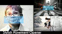 پروژه افترافکت افتتاحیه Stylish Movement Opener