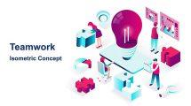 پروژه افترافکت انیمیشن اجزای ایزومتریک Teamwork Isometric Concept