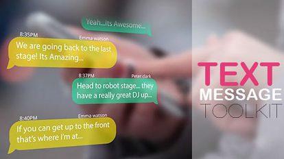پروژه افترافکت مجموعه پیام های متنی Text Messages