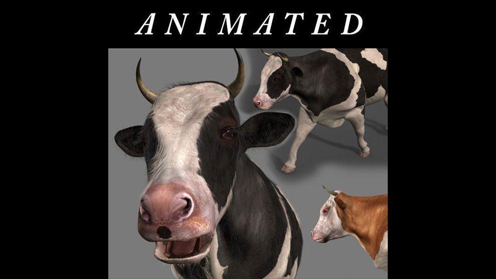 مدل سه بعدی و انیمیشن گاو Top Cow