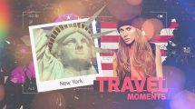 پروژه افترافکت اسلایدشو لحظات سفر Travel Moments Slideshow