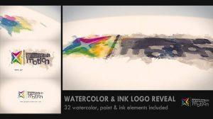 پروژه افترافکت نمایش لوگو با جوهر و آبرنگ Watercolor & Ink Logo Reveal
