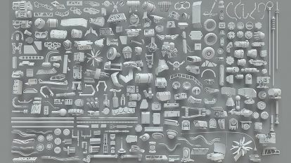 مجموعه 268 مدل سه بعدی اجزا و قطعات فلزی