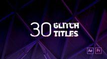 پروژه افترافکت نمایش عناوین گلیچ Glitch Titles