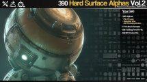 مجموعه 390 تصویر آلفا برای مدلسازی سطوح سخت Sci-Fi