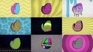 پروژه افترافکت نمایش لوگو دهه هشتادی 80s Retro TV Logo