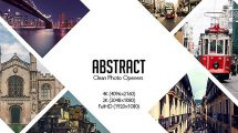 پروژه افترافکت نمایش لوگو با عکس Abstract Photo Openers