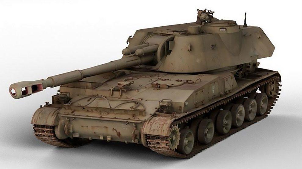 مدل سه بعدی تانک جنگی Akatsiya