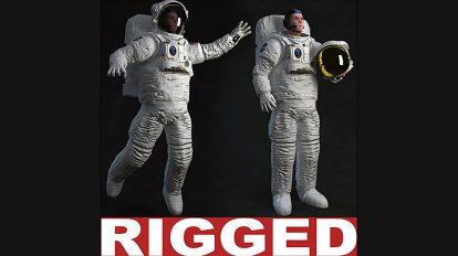 مدل سه بعدی ریگ شده فضانورد Astronaut Rigged