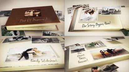 پروژه افترافکت کتاب خاطرات Book of Memories