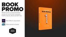 پروژه افترافکت تیزر تبلیغاتی کتاب Book Social Media Promo