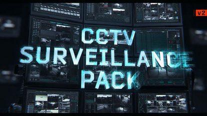 پروژه افترافکت نمایش ویدیو دوربین مدار بسته CCTV Survelliance Pack