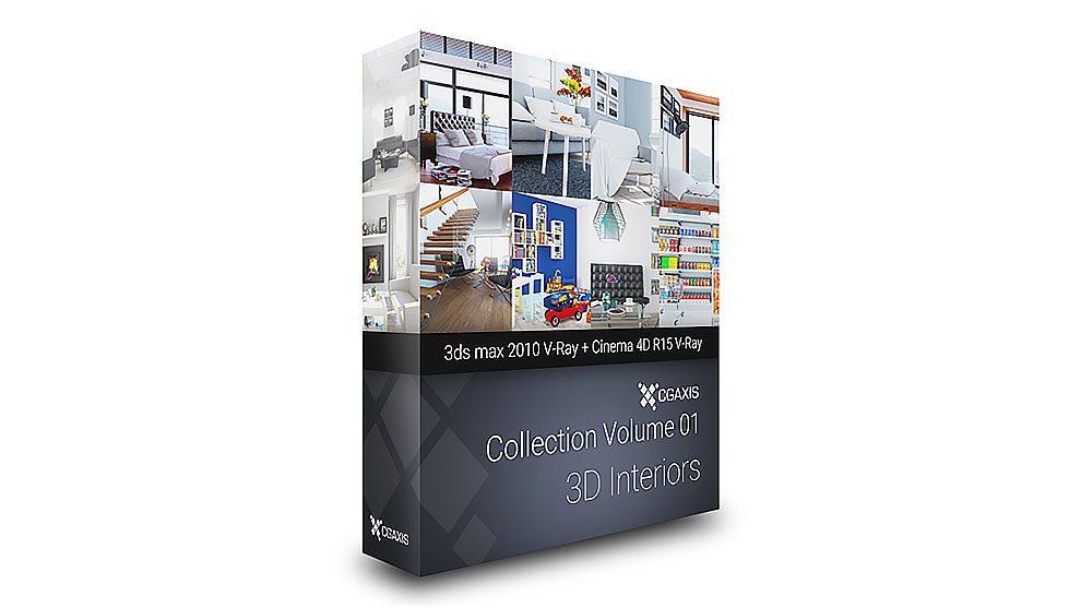مجموعه مدل سه بعدی فضاهای داخلی CGAxis Interiors Vol.1