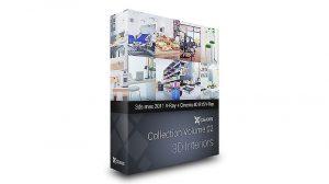 مجموعه مدل سه بعدی فضاهای داخلی CGAxis Interiors Vol.2