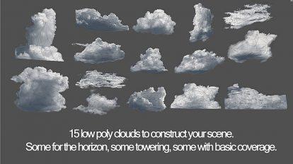 مجموعه مدل سه بعدی ابر 3D Cloud Models