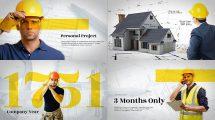 پروژه افترافکت پرزنتیشن ساخت و ساز Construction Building Presentation