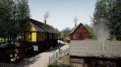 مجموعه مدل سه بعدی اجزای روستای قرون وسطایی Fantasy Medieval