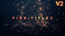 پروژه پریمیر نمایش عناوین با ذرات آتشی Fire Titles