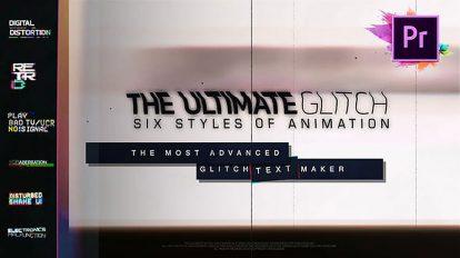 پروژه پریمیر مجموعه عناوین متحرک گلیچ Glitch Title Animation Presets