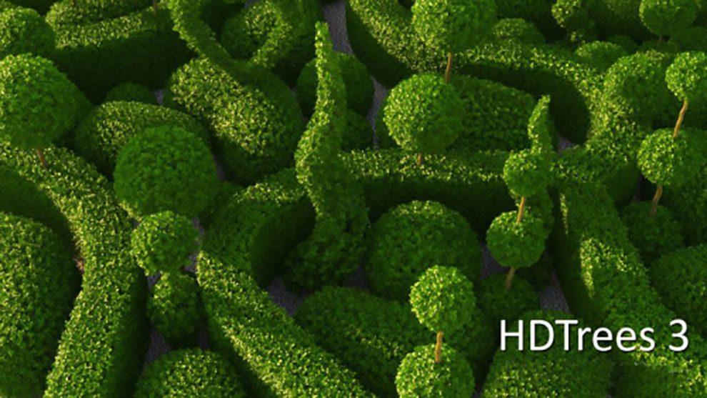 مجموعه مدل سه بعدی درخت برای سینمافوردی HD Trees Vol.3