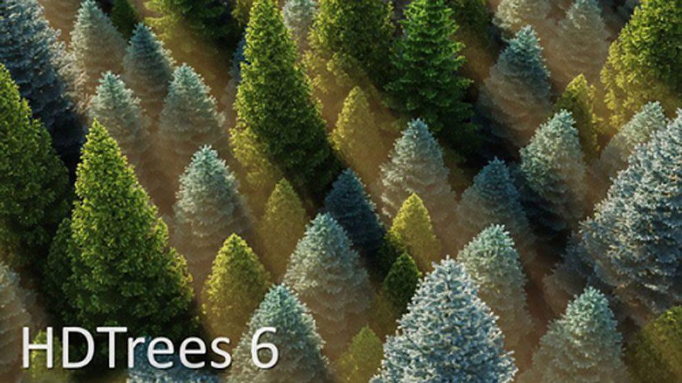 مجموعه مدل سه بعدی درخت برای سینمافوردی HD Trees Vol.6