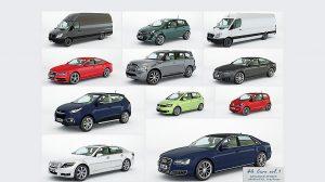 مجموعه مدل سه بعدی خودرو برای سینمافوردی HQ Cars Vol.1