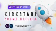 پروژه افترافکت تیزر تبلیغاتی کسب و کار جدید Kickstart Promo Builder