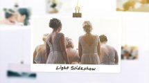 پروژه افترافکت اسلایدشو با عکس های آویزان شده Light Photo Slideshow