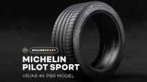 مجموعه مدل سه بعدی تایر ماشین Michelin Pilot Sport Tire