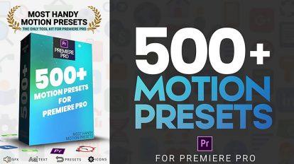 مجموعه پریست ویدیویی برای پریمیر پرو Most Handy Motion Preset