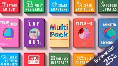 پروژه افترافکت مجموعه اجزای ویدیویی Multipack