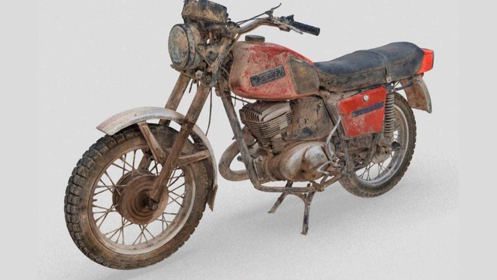 مدل سه بعدی موتور سیکلت قدیمی Old Soviet Moto