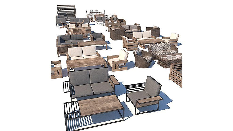 مجموعه مدل سه بعدی مبلمان فضای خارجی Outdoor Furniture Collection