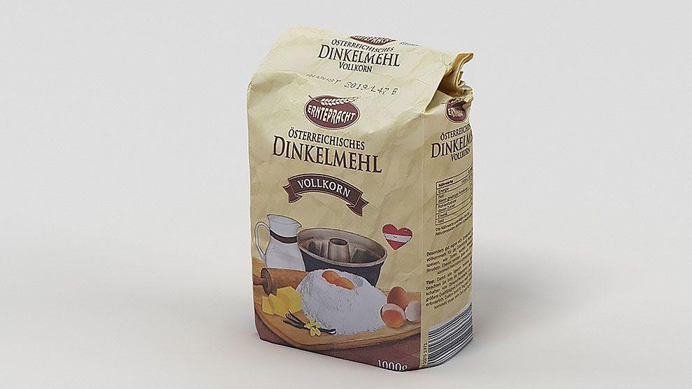 مدل سه بعدی بسته آرد Pack of Flour