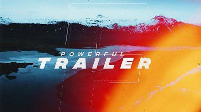 پروژه افترافکت تریلر اکشن Powerful Trailer
