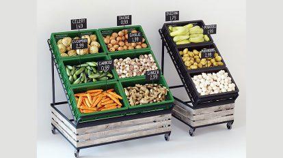 مجموعه مدل سه بعدی ردیف میوه و سبزیجات