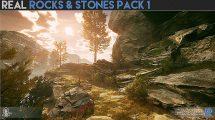 مجموعه مدل سه بعدی سنگ و صخره Real Rocks and Stones Pack