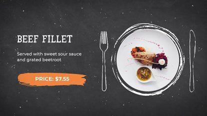 پروژه افترافکت تیزر تبلیغاتی رستوران Restaurant Food Menu