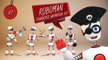 پروژه افترافکت انیمیشن کاراکتر ربات Roboman Character Kit
