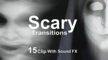 مجموعه ویدیوی موشن گرافیک ترانزیشن ترسناک