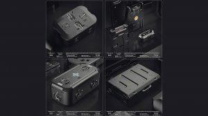 مجموعه مدل سه بعدی جعبه با استایل Sci-Fi
